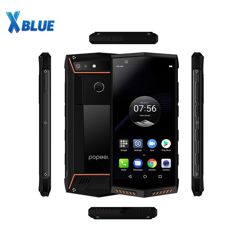 Poptel P60 Водонепроницаемый смартфон с 5,5-дюймовым дисплеем, восьмиядерным процессором Helio P23, ОЗУ 6 ГБ, ПЗУ 5,7 ГБ, 5000 мАч