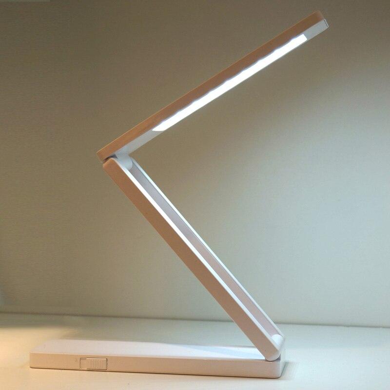 Lámpara de escritorio plegable LED que cuida los ojos iluminación regulable USB carga conectar lectura mesa de estudio iluminación