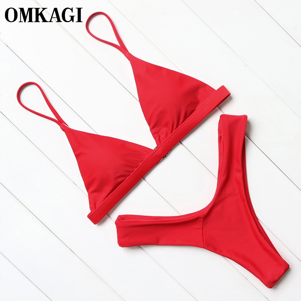 OMKAGI Bikin Swimwear Women Swimsuit Sexy Push Up Micro Bikinis Set Swimming Bathing Suit Beachwear Summer Brazilian Bikini 2021