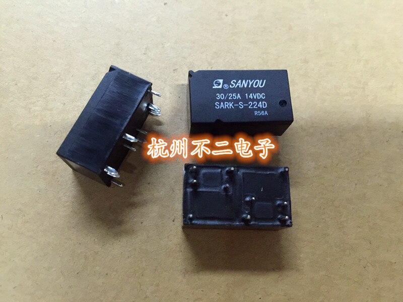 Relés automotivos SARK-S-224D HFKC-024-2ZST 10-pin 30A relé duplo