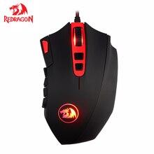 Redragon M901 Perdition filaire souris de jeu grande taille Programmable 24000 DPI Laser Gamer souris pour ordinateur PC