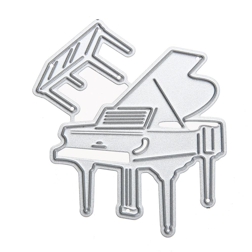 Piano Ofício Embossing Corte De Metal Morre Estêncil para DIY Scrapbooking Álbum de fotos Decorativo Cortador de Papel Cartão