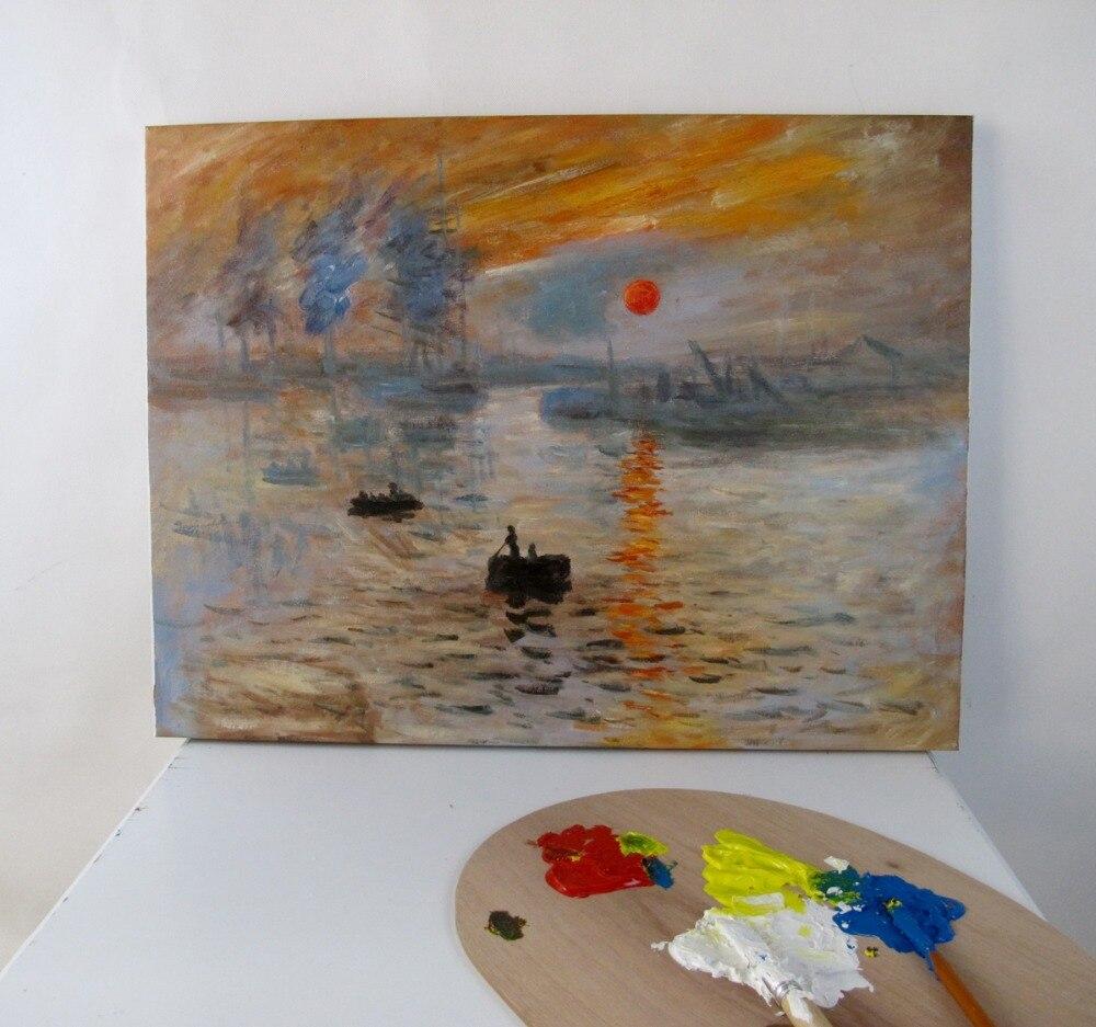 Pinturas al óleo hechas a mano reproducción de impresión, Amanecer de Claude Monet
