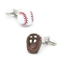 IGame hommes Baseball & gants boutons de manchette en laiton matériau blanc couleur Sport Design boutons de manchette livraison gratuite