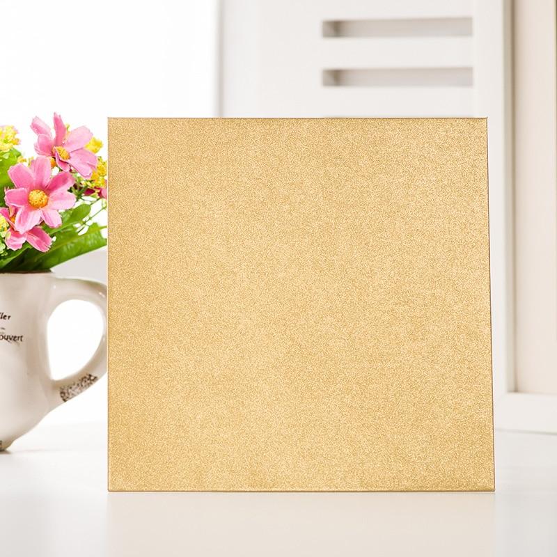 20PCS 16x16cm Platz Luxus einladungen hochzeit einladung umschläge taschentuch spezielle einladung 250g perle papier