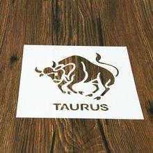 1 pièces Constellations Taurus en forme de pochoir réutilisable aérographe peinture Art décoration pour la maison bricolage livre Album artisanat gâteau moule