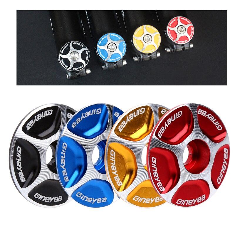 "Nuevos accesorios de aluminio sin rosca para eje de bicicleta de montaña, cubierta de tapa superior de auricular de 1 ""a 1 1/8"", piezas de bicicleta de oro/rojo/negro/azul"