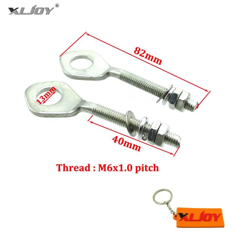 XLJOY цепь регулировщик натяжителя болты для Honda Monkey Z50 Z50A Z50J велосипеды подходят для обезьяны и Dax Стандартный фитинг 12 мм ось