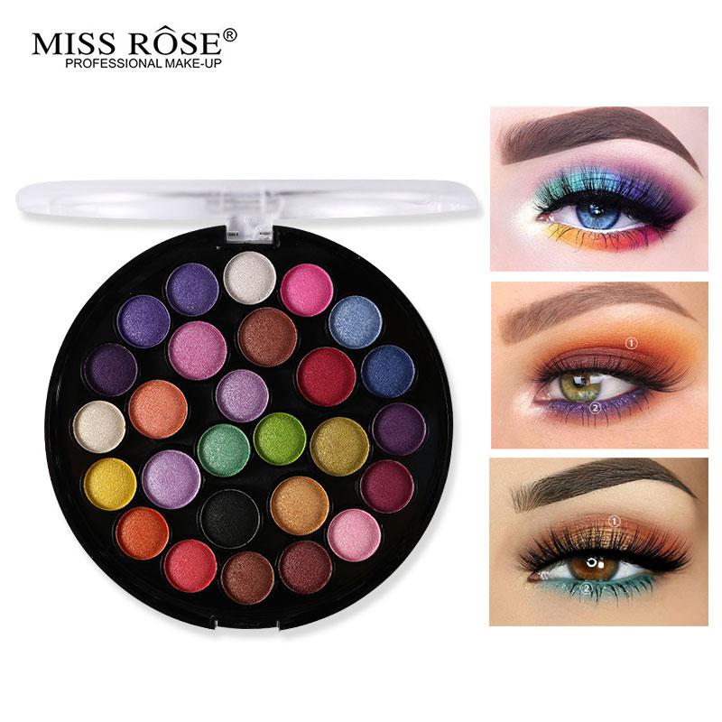 Paleta de maquillaje Miss Rose Eye paleta de sombra de ojos mate de 27 colores paleta efecto piel desnuda sombra de ojos pigmento rojo cálido Kit de cosméticos profesional elegante