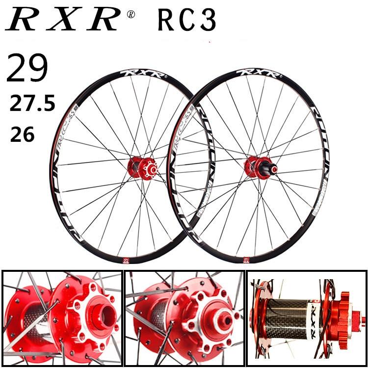 2020 MTB горный велосипед углеродное волокно барабан 26er 27.5er 29er шесть отверстий дисковый тормоз колеса велосипеда 7/11 скорость сплава обод колеса