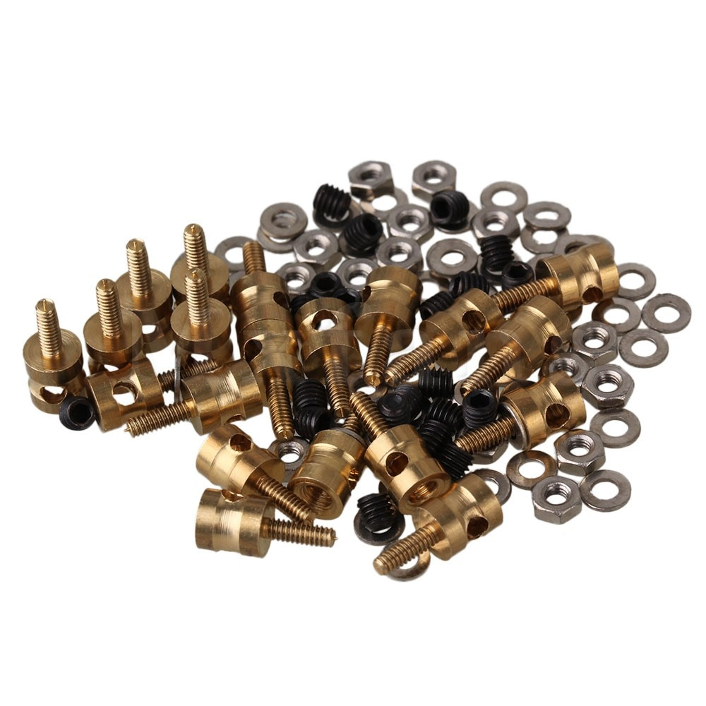 Mxfans 20pcs 2mm Metal RC Model Linkage Stopper Servo Screws Nuts for RC Airplane
