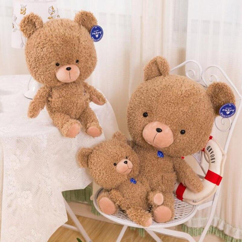 1 Uds. Oso de peluche rizado bonito muñeco de oso de peluche juguetes de peluche peludos animales peludos oso de peluche chica almohada muñeca juguetes para niños
