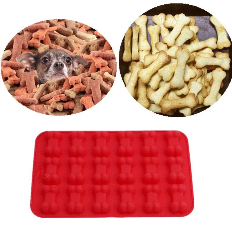 3D hueso de perro cortador de forma de la galleta de Chocolate moldes de silicona fondant de azúcar pastel de utensilios de cocina de decoración de repostería para hornear moldes