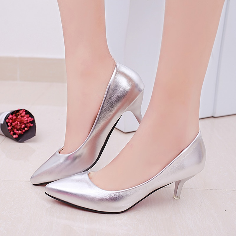 AliExpress - GAOKE Fashion Office Work Pumps Women Shoes Elegant Heeled women Stiletto Party Pointed Toe Patent Leather Thin Heels Shoes