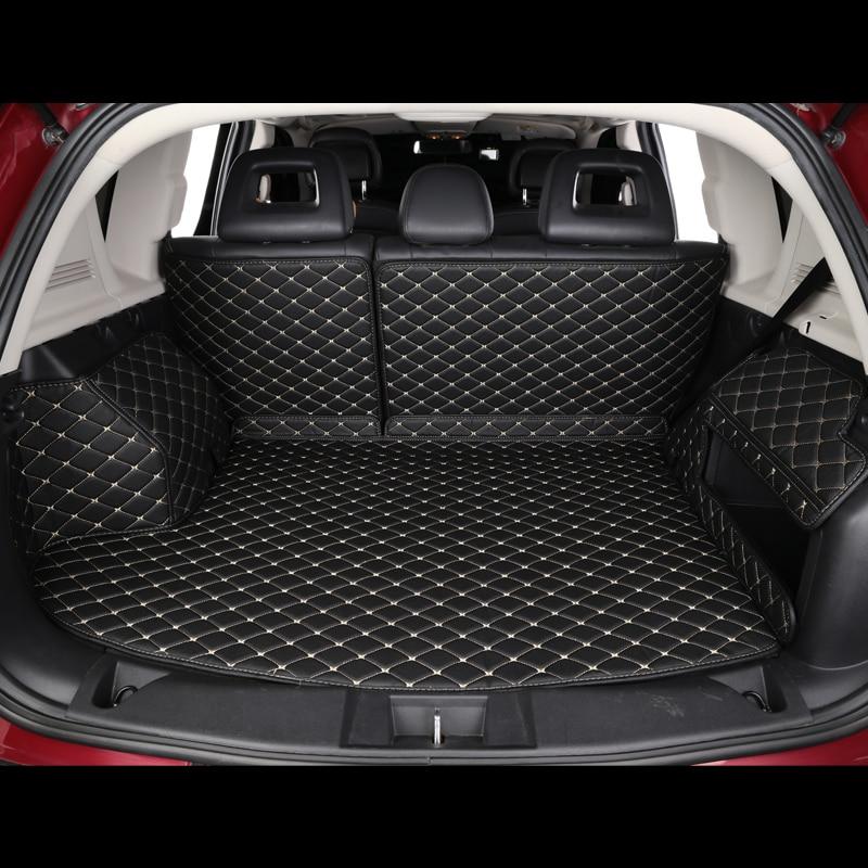 Cubierta completa 5D, totalmente personalizada, estera de cuero de maletero de coche, forro de carga para Hyundai Toyota BMW Benz