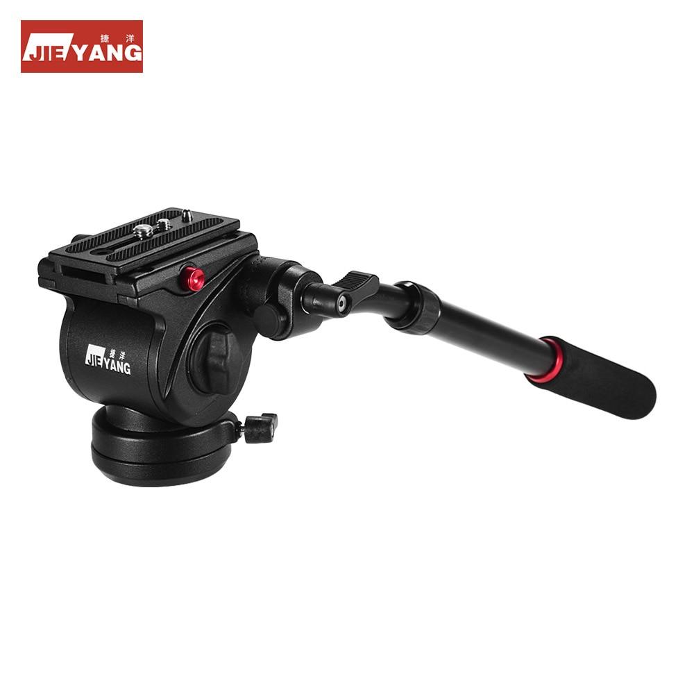 Фото JIEYANG видео штатив головка жидкости видео головка с ручкой для штатива монопод слайдер для Canon Nikon Sony DSLR камеры