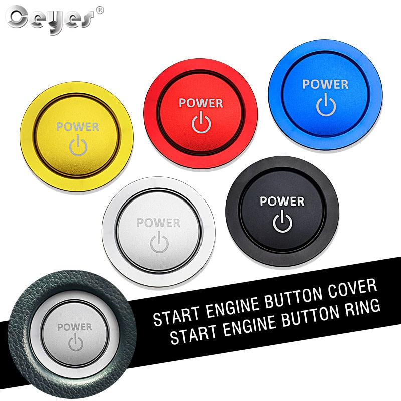 Ceyes автомобильный двигатель старт стоп зажигание кольцо для ключей Стайлинг Аксессуары Чехол для Toyota Camry Corolla Prius RAV4 силовые наклейки чехлы