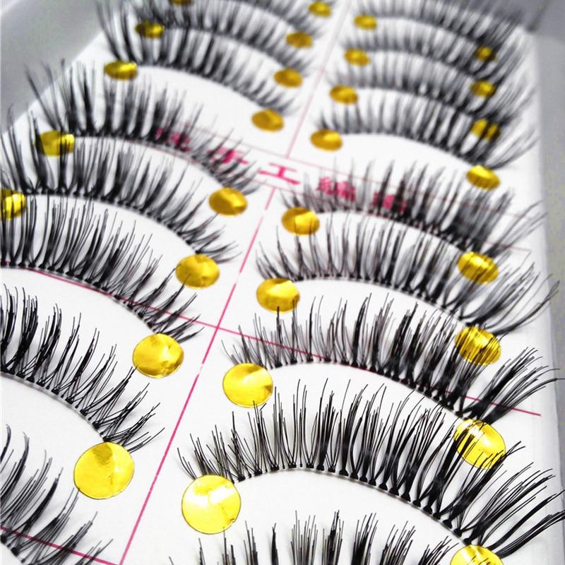 10Pair/Lot Natural Thick False Eyelashes Eye Lash Extension Fake Lashes Voluminous Makeup Fake Eyelashes Eye Lashes Wimpers