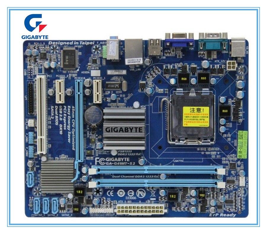 Placa base original para gigabyte GA-G41MT-S2 LGA 775 DDR3 G41MT-S2 placa base de escritorio G41 totalmente integrada