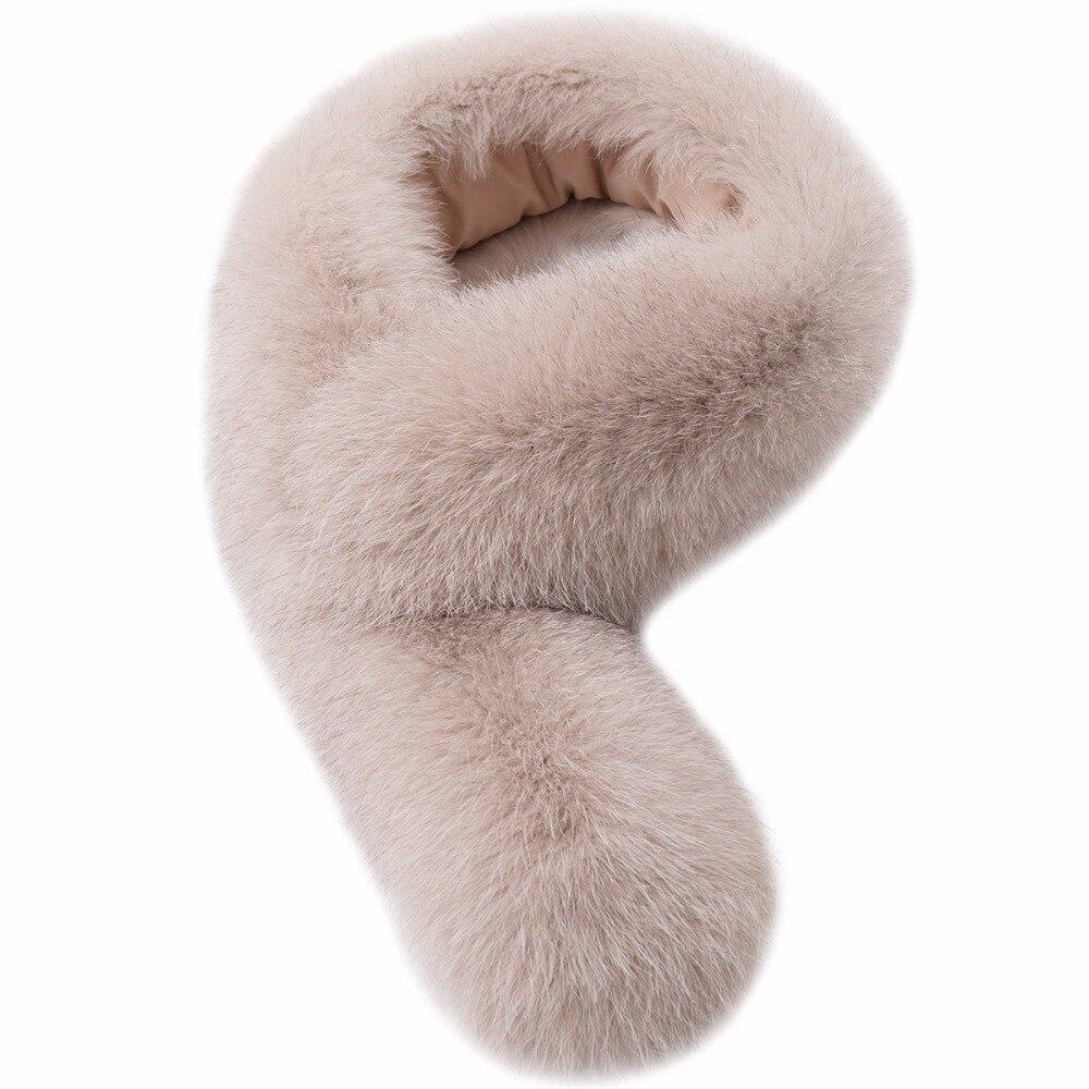 Real Fox Fur Collar 72cm Women 100% Natural Fox Fur Scarf Winter Warm Fur Collar Scarves 12 colors