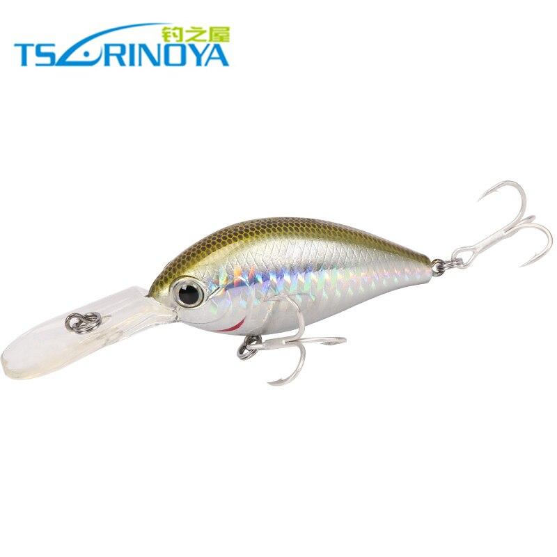 Trulinoya DW21 64 мм 16,5 г 2,5-3,2 м Мини Кривошип Fly жесткая приманка для рыбалки с VMC Крючки светящиеся приманки