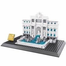 667 Pcs WANGE Architecture Fontana di Trevi Building Blocks Sets Bricks Classic City Skyline Model Kids Gift Toys