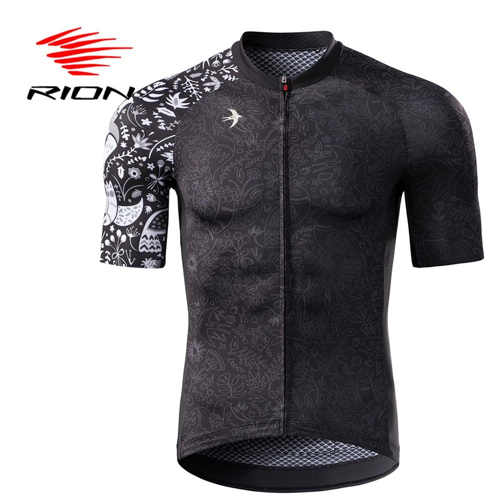 RION Men Cycling Jersey Motocross Short Sleeves Tops Bicycle Retro MTB Downhill Shirt Road Bike Team Autumn Sports Men Clothing