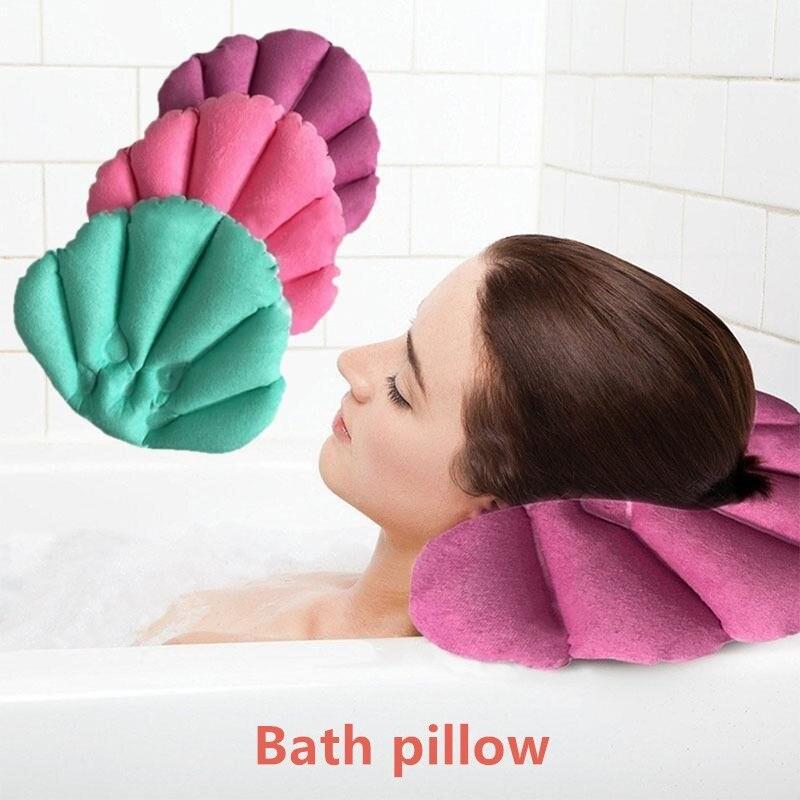 Hogar Baño inflable baño Spa almohada cabeza espalda cuello cojín bañera relajante Color aleatorio Drop shipping