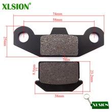 XLSION Steel Disk Brake Pads For 50cc 70cc 110cc 125cc 140cc SDG SSR Coolster Pit Dirt Bike ATV Quad SSR Thumpstar motorcycle