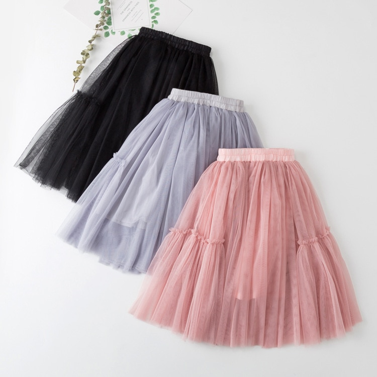 Teenage Kids Skirt for Girl Mesh Princess Tutu Skirts for Dance Party Skirt Girls Costume 6 8 10 12 Years Spring Summer Autumn