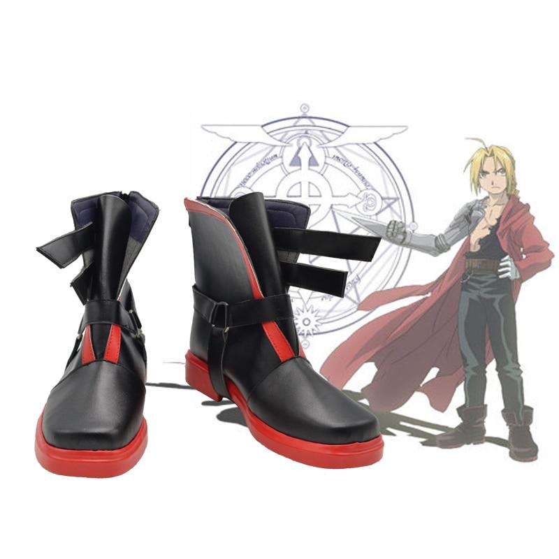 Fullmetal-أحذية رياضية كوسبلاي ، أحذية أنيمي إدوارد إلريك