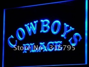 i756 Cowboys Place Pub Beer Club LED Neon Light Light Signs On/Off Switch 20+ Colors 5 Sizes