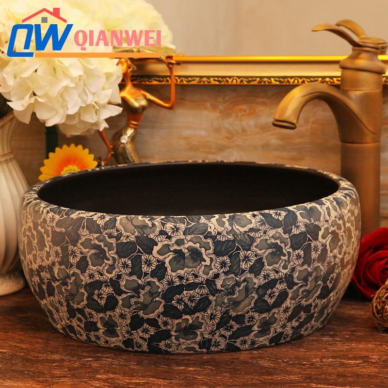 Sell Jingdezhen Art Porcelain Bathroom Wash Sinks