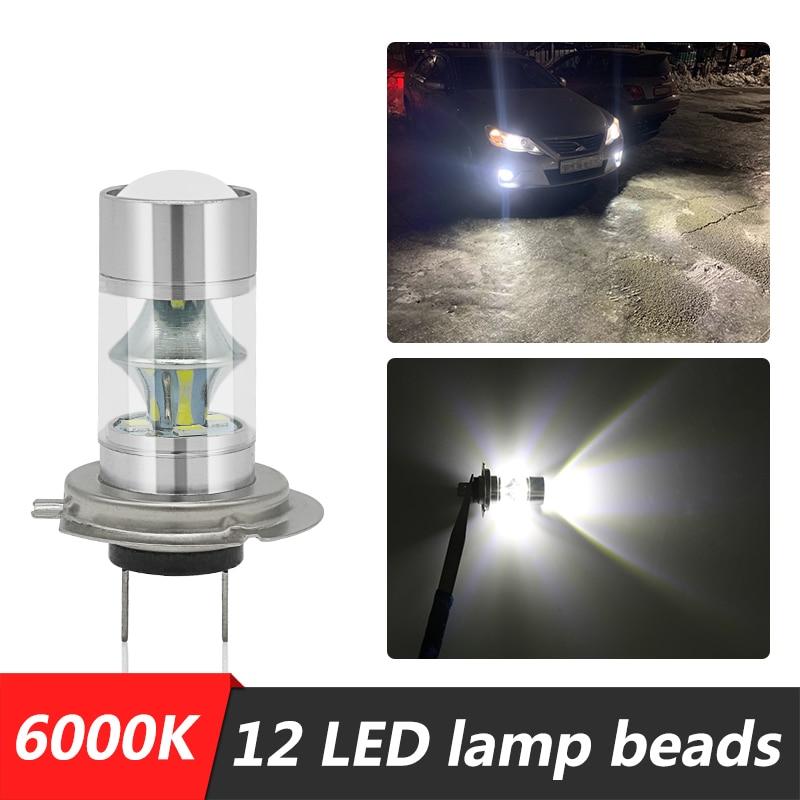Para Audi TT Coupe Q3 Q5 Q7 A3 A4 A6 A7 A8 A8L A4L S5 S4 S6 SQ5 2 uds H7 60W linterna LED para cabeza coche luz de niebla Super brillante bombilla