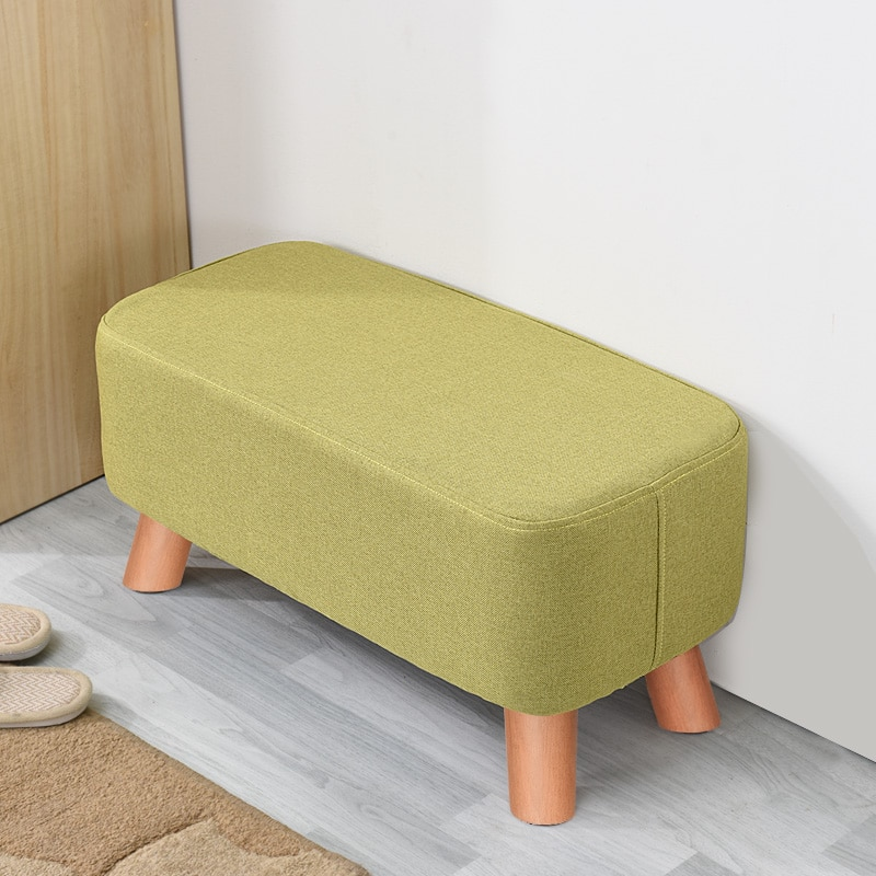 Solid wood shoe bench low stool fashion fabric bench living room sofa stool creative shoes stool недорого