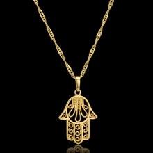 Hamsa main Collier pour femmes Collares arabe couleur or main de Fatima pendentif colliers, Collier Femme paume 2020 livraison directe