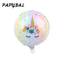 Ballon à hélium en forme de licorne 18 pouces   Feuille daluminium, décorations de fête danniversaire, jouets pour enfants, fournitures de mariage, fleur réception-cadeaux pour bébé