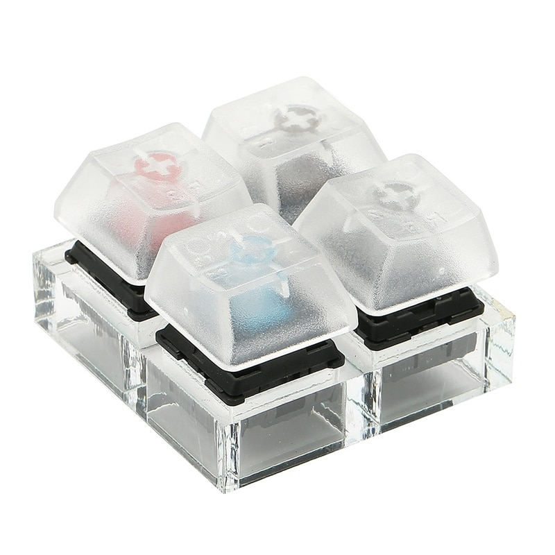 Механические Клавишные переключатели с 4 клавишами, пробомер, акриловые колпачки, Прозрачный Полупрозрачный набор клавишных колпачков для инструмента для тестирования Cherry MX
