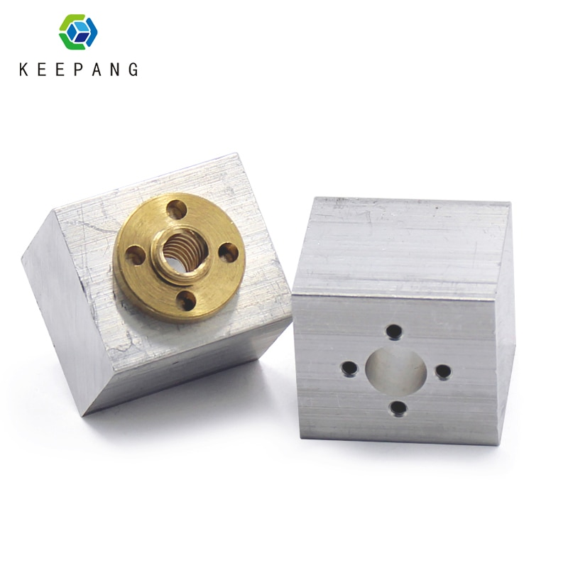 T8 Screw Nut converter 3D Printers Parts T8 Trapezoidal Nuts Lead Screw Housing Mounting Bracket Aluminum Block impressora 3d