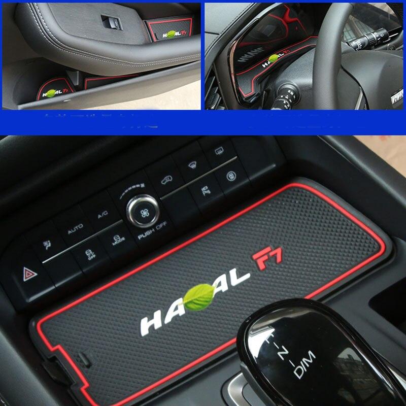 Car Accessories 3D Rubber Mat Non-slip Mat Interior Cup Pad Door Groove Mat For Haval F7 2019 2020