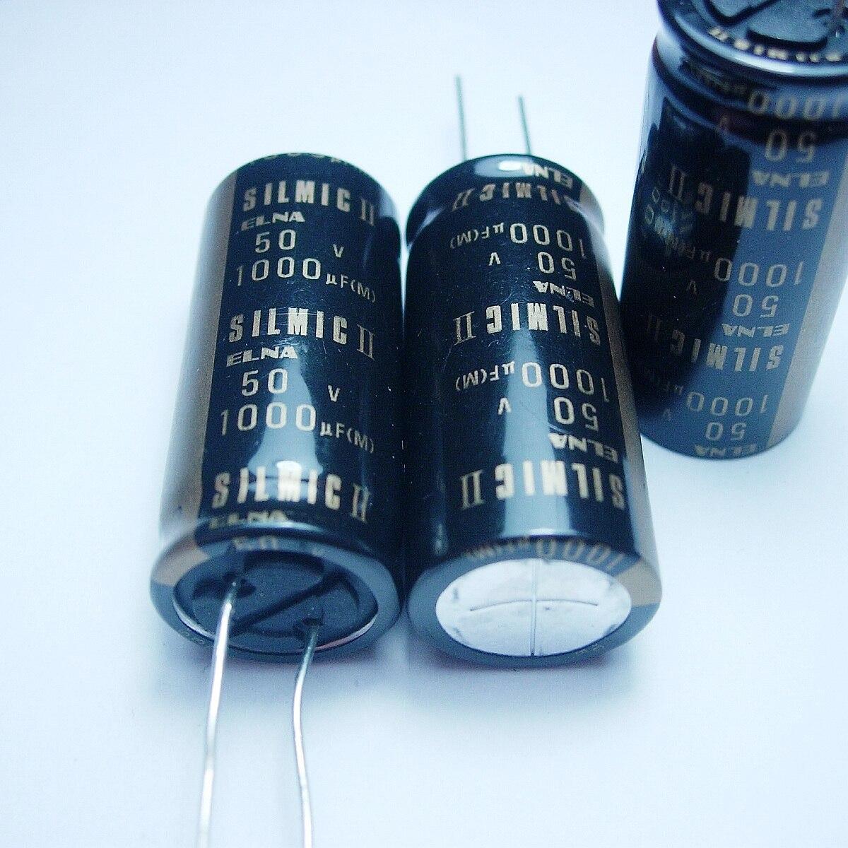 5pcs/10pcs ELNA SILMCII 50v1000uf 18*40 copper capacitor audio super capacitor electrolytic capacitors free shipping 5pcs 10pcs elna silmcii 16v2200uf 18 40 copper capacitor audio super capacitor electrolytic capacitors free shipping