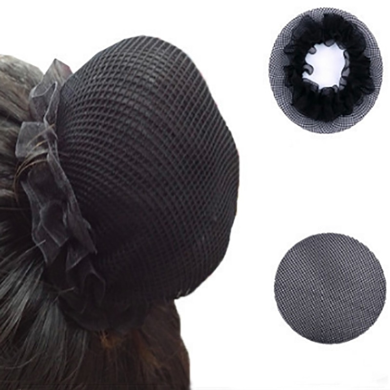 Black Elastic Children Lace Hair Net Ballet Hair Accessories Ballet Hairnet Ballet Headbands Headwear Ballet Bun Net Girls Women
