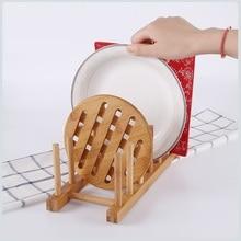 Eco-Friendly Wooden Bowl Drain Rack Sink Plate Cutting Board Cup Rack Holder Shelf Dish Drainer Kitchen Accessories Organizer