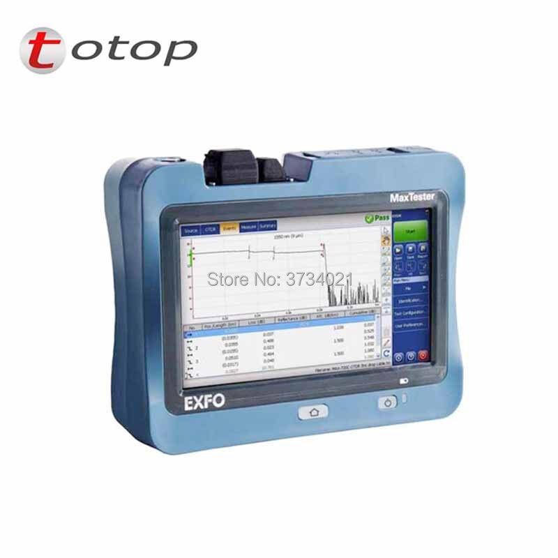OTDR EXFO MaxTester-720C reflectómetro óptico de dominio de tiempo SM OTDR 1310/1550 nm 36/35dB pantalla táctil de 7 pulgadas