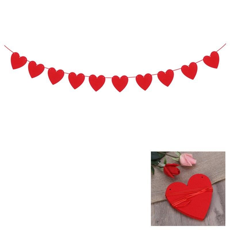2,5 m corazón rojo amor banderas guirnalda boda San Valentín cumpleaños propuesta de matrimonio decoraciones románticas telón de fondo