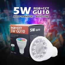 Neue AC110V 220 V 2,4G RF 5 Watt GU10 RGB + CCT LED Dimmbar Drahtlose Led-lampe Led-strahler Smart Led-lampe Beleuchtung paar Mi licht