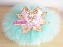 child blue bird ballet tutu girls peach fairy professional ballet costumes sleeping beauty performance tutu SB0066