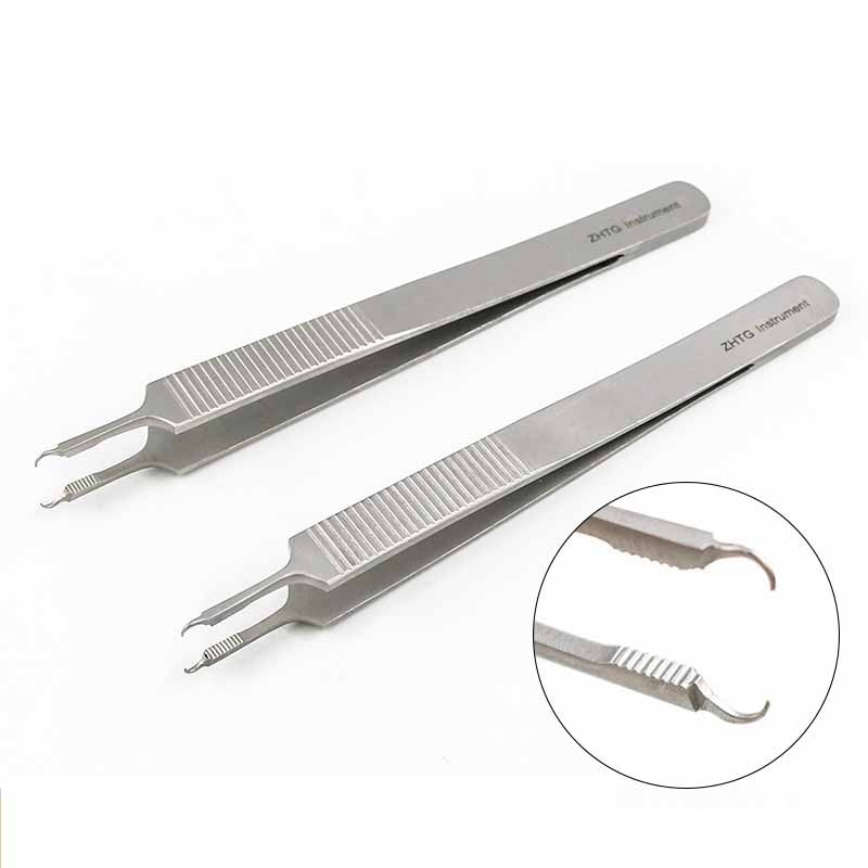 12.5cm surgery suture forceps pliers needle-holding surgical clamp tweezers with toothed hook surgery equipment tools