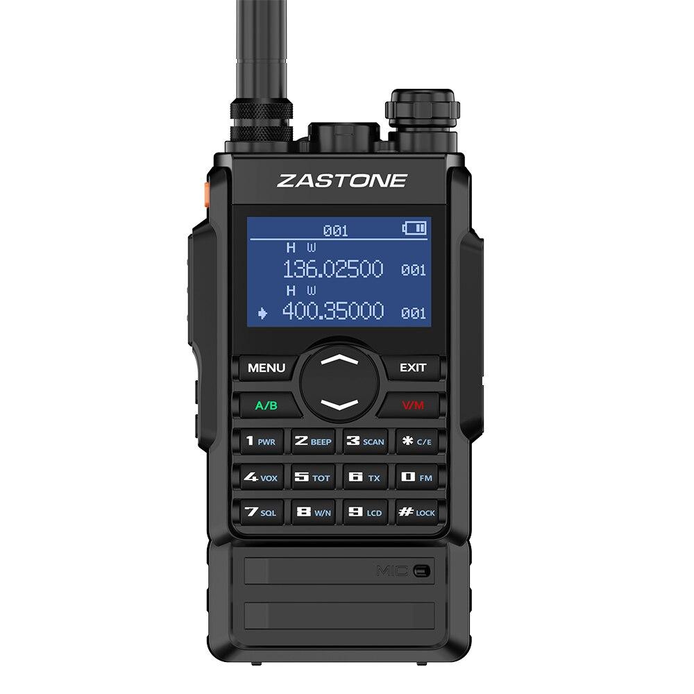 Rádio duplo da frequência ultraelevada 400-480 mhz/vhf 136-174 mhz 2600 mah ptt duplo do walkie talkie 8 w de zastone m7 comunicador em dois sentidos
