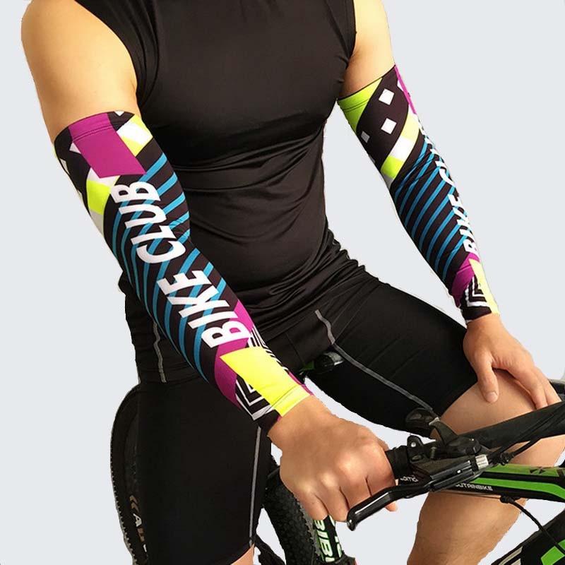 2 unids/lote manguitos de ciclismo para correr, cubierta protectora solar, puños de voleibol UV para bicicleta, calentadores de brazo, manguitos deportivos